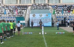 """Samarqandda futbol boʻyicha """"Vazir kubogi"""" musobaqasining tantanali ochilish marosimi oʻtk…"""